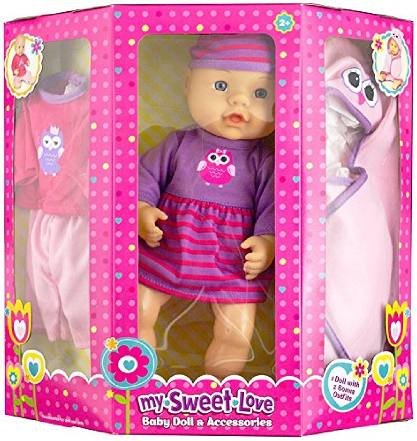 My Sweet Love Baby Doll and Accessories with Two Bonus Outfits [並行輸入品]