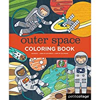 (Outer Space) - Petit Collage Outer Space Colouring Book