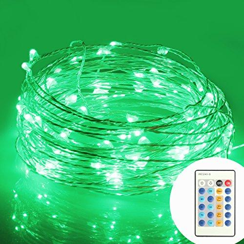 (モニコ)MONIKO イルミネーション 防水 コントローラー付 省エネ LED パーティー用電飾 メリクリスマス飾り ストリングライト 100球10m (グリーン)