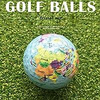 3個入り ゴルフボール 斬新で独特 地球儀 贈り物 ギフト ボール練習ゴルフ 練習用品