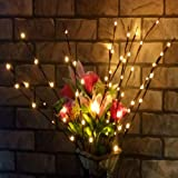 Velidy Branches Battery Powered Decorative Lights Tall Vase Filler Willow Twig Lighted Branch for Home Decoration Warm White
