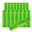 エネボルト(enevolt) 単4 充電池 900mAh 大容量 ニッケル水素充電池 自然放電軽減 充電 電池 16本セット