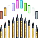 Metallic Markers Pens - SAYEEC Metallic Color Painting Pens Art Marker Set of 10 Assorted Colors for Gift Card Making, DIY Ph