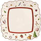 Villeroy & Boch Salad Plate, Porcelain, Multi-Colour, 22 x 22 x 8 cm, White/Red, Breakfast