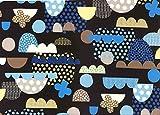 LECIEN (ルシアン) フラッパーイーパターン 約110cm巾×50cmカット 40393 col.100