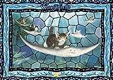 108ピース ジグソーパズル WACHIFIELD 陸エイに乗って【プリズムアート】(18.2x25.7cm)