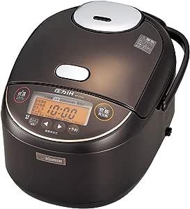 象印 炊飯器 圧力IH式 1升 (10合) 極め炊き 黒まる厚釜 ダークブラウン NP-ZS18-TD