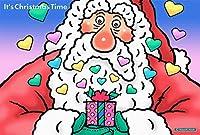 クリスマス-ポストカード (Time Santa-55)・ジクレー版画