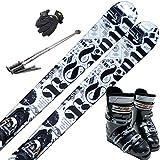 スキー5点セット SWALLOW 12-13 PS-4 150cm ブーツ26cm ストック110cm メンズグローブ ワクシング施工