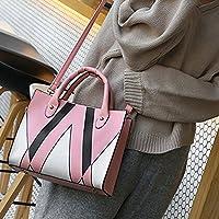 Eldori レディースショルダーバッグ ハンドバッグ 斜めがけバッグ 肩掛けバッグ レディース 斜めがけバッグ 大容量 手提げバッグ 防水 ファッション 通勤 通学 ピンク