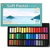 (48色) HASHI ハシ 専門家用 無毒性 ソフト パステル セット - チョーク パステル カラー soft short pastels For professionals