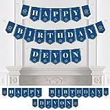 Bigドットの幸せのPersonalized Royal Prince Charming – カスタム誕生日パーティーホオジロバナー&デコレーションカスタム名 – Happy誕生日バナー