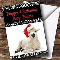 Cute lamb christmas greetingsカードPersonalized