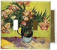 Van Gogh–キョウチクトウスイッチプレート Double Toggle D340-plate 1
