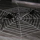 Tutent 9.85フィート 蜘蛛の巣 ハロウィンデコレーション