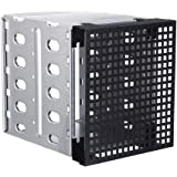 """Zandreal 5.25"""" to 5X 3.5"""" SATA SAS HDD Cage Rack Hard Driver Tray Caddy with Fan Space"""