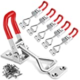 6 Pack Adjustable Toggle Latch Clamp 4001 (with Screws), 330 Lbs 150Kg Holding Capacity, Heavy Duty Quick Release Pull Latch