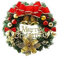 40センチクリスマス大きな花輪ドア壁飾り花輪装飾3デザイン (デザイン2)