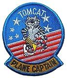 アメリカ軍 ミリタリー ワッペン F-14 トムキャット PLANE CAPTAIN, US NAVY (ベルクロ仕様) [並行輸入品]