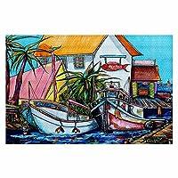 エリアラグ、キッチンマット、バスマットwith Chevron WeaveからDiaNoche by Patti Schermerhorn–Just A Little Beach Town Large 4 X 6 ft AR-PattiScherJustaLittleBeachTown2