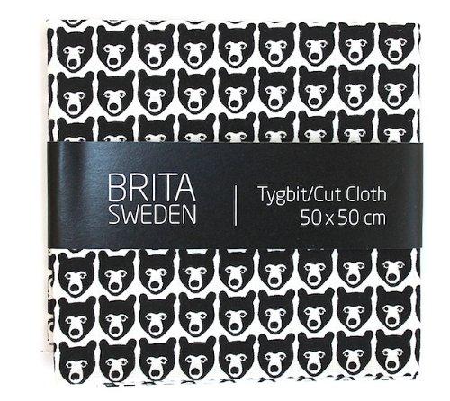 RoomClip商品情報 - BRITA SWEDEN(ブリタ スウェーデン)カットクロス(50cm X 50cm) Stina くま ブラック