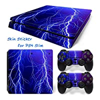 Hzjundasi 645# Body Sticker Decal Skin ステッカーデカールスキン For Playstation 4 PS4 Slim Console+Controllers
