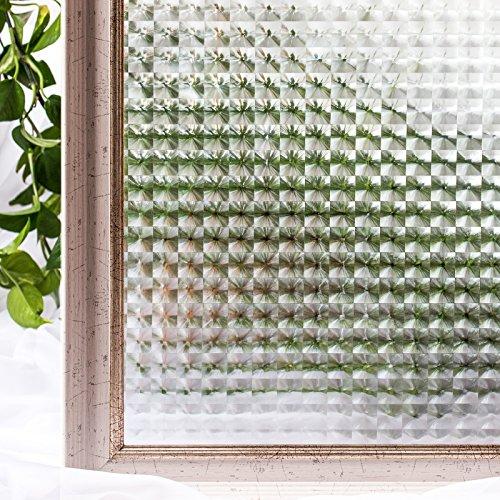 RoomClip商品情報 - CottonColors 3D 窓用フィルム 目隠しシート 断熱 紫外線カット 何度も貼直せる ガラスフィルム 90x200cm [夢の間021]