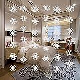 FidgetGear 6pcs Cutout Christmas Snowflake Bunting Banner Garlands Party Ceiling Decor