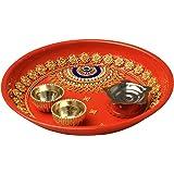 Small Rakhi Plate (Red)
