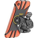 Matone Bike Phone Mount, 360° Rotatable Motorcycle Phone Mount Bike Phone Holder, Universal Adjustable Silicone Holder Compat