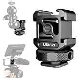 Ulanzi ホットシューカメラマウントアダプター 三つシュー アルミ製 角度調節可 拡張可能 デジタル一眼レフカメラ ビデオフィルライトモニターマイク対応