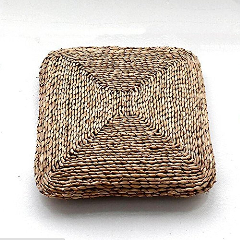 天然素材座布団   円座  ざぶとん  四角型  ガマの葉を編んだざぶとん