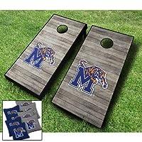 Memphis Tigers「アンティーク調」テーマCornhole WrapsボードセットBean Bag Toss + 8ACA Regulation Bags ~ MADE IN THE USA