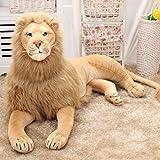 S&C Live ぬいぐるみ  ライオン リアル 特大 アフリカライオンモデルぬいぐるみ 動物静態モデルぬいぐるみ ライオン縫い包み/ライオン抱きぬいぐるみ/お祝い/お礼プレゼント ふわふわやわらかぬいぐるみ 癒しグッズ どっきりグッズ 面白グッズ  七五三祝いプレゼント こどもの日プレゼント 御出産祝い お誕生御祝いプレゼント 親友へのプレゼント 彼女恋人への贈り物 ゴージャスプレゼント ライオンぬいぐるみ ライオン抱き枕 特大 ライオン家族#17233 (高さ68㎝、長さ120㎝)