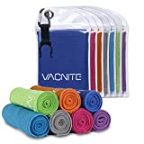 VACNITE クールタオル 速乾タオル 超吸水 軽量 速乾 熱中症対策 100×30cm 7色選択可能 1枚 防水袋付き (紺)