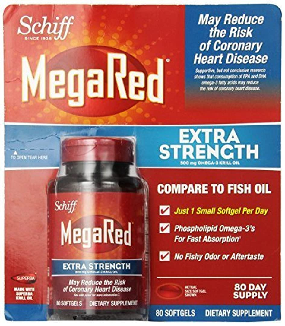 ヤギ有名な告白するSchiff MegaRed Extra Strength 500mg Omega 3 Krill Oil Softgel, (80 ct) by Megared [並行輸入品]