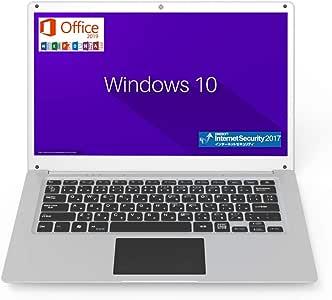 GLM 超軽量 薄型 PC ノートパソコン 日本語キーボート Microsoft Office 2019 / Windows 10 / INTEL x5-Z8350 / WIFI / USB3.0 / HDMI / WEBカメラ / 14.1インチ / SSD64GB / メモリ4GB