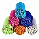 クールタオル 運動タオル 超吸水冷感タオル 保冷剤を首にあてる為に使用 夏の暑さを対策に