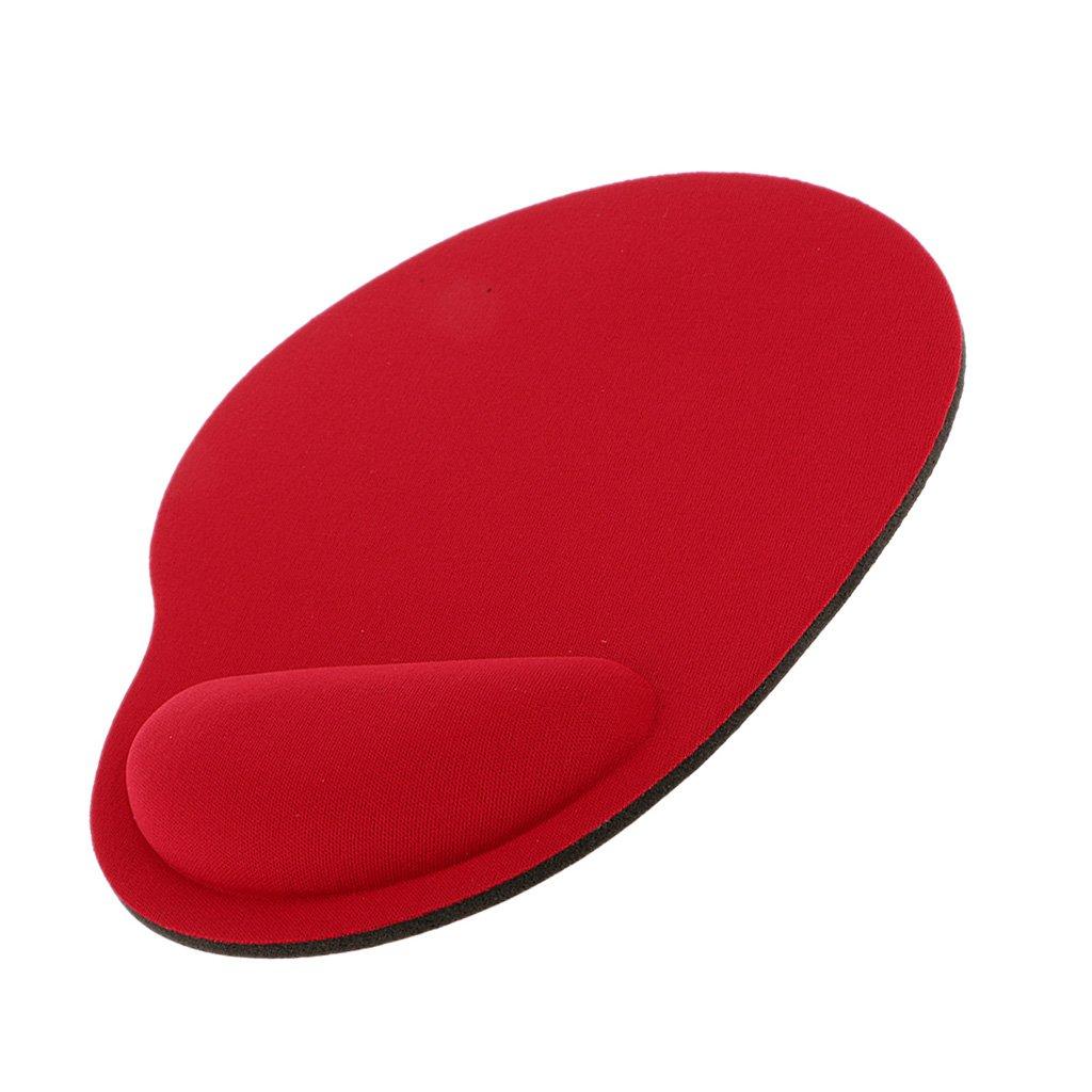 安価かつ快適 ソフトジェルレスト 手首サポートマット マウスパッド - 赤