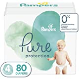 Diapers Size 4, 80 Count - Pampers Pure Protection Disposable Baby Diapers, Hypoallergenic and Unscented Protection, Giant Pa