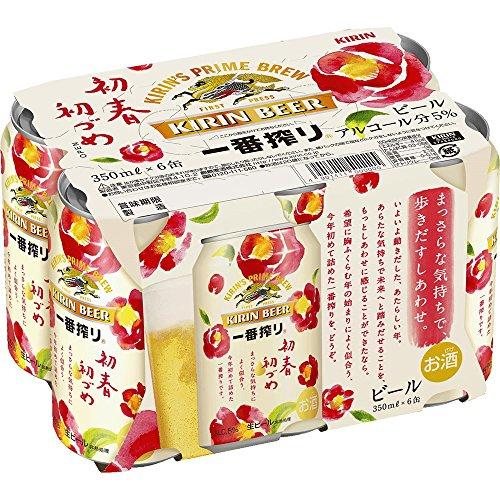 キリン 一番搾り 初春初づめ 6缶パック 350ml×24本 350ml×2...