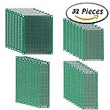 GOOMAND ユニバーサル 基板 両面 PCB回路基板 PCB ユニバーサル プリント基板 DIY はんだ付け 電子工作 2 * 8CM ・3 * 7CM ・4 * 6CM ・5 * 7CM(32個)