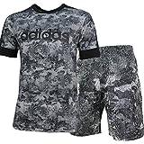 アディダス adidas 上下セット コットン100% カモ柄 Tシャツ 半袖 + ハーフパンツ ETZ50 CX3400 EEC04 CD8271 ブラックカモ (L)