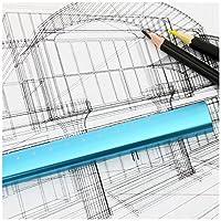 Ownstyle建築エンジニアCartographic定規スケール15cmメトリックメタル3dスケールルーラー