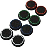 4 Pair / 8 Pcs Replacement Silicone Thumb Grip Stick Analog Joystick Cap Cover for Ps3 / Ps4 / Xbox 360 / Xbox One Game Contr
