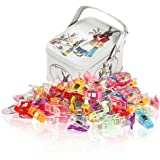 Soraco 100 Pack Multicolor Clips Quilter Clamps with Tin Box for Sewing