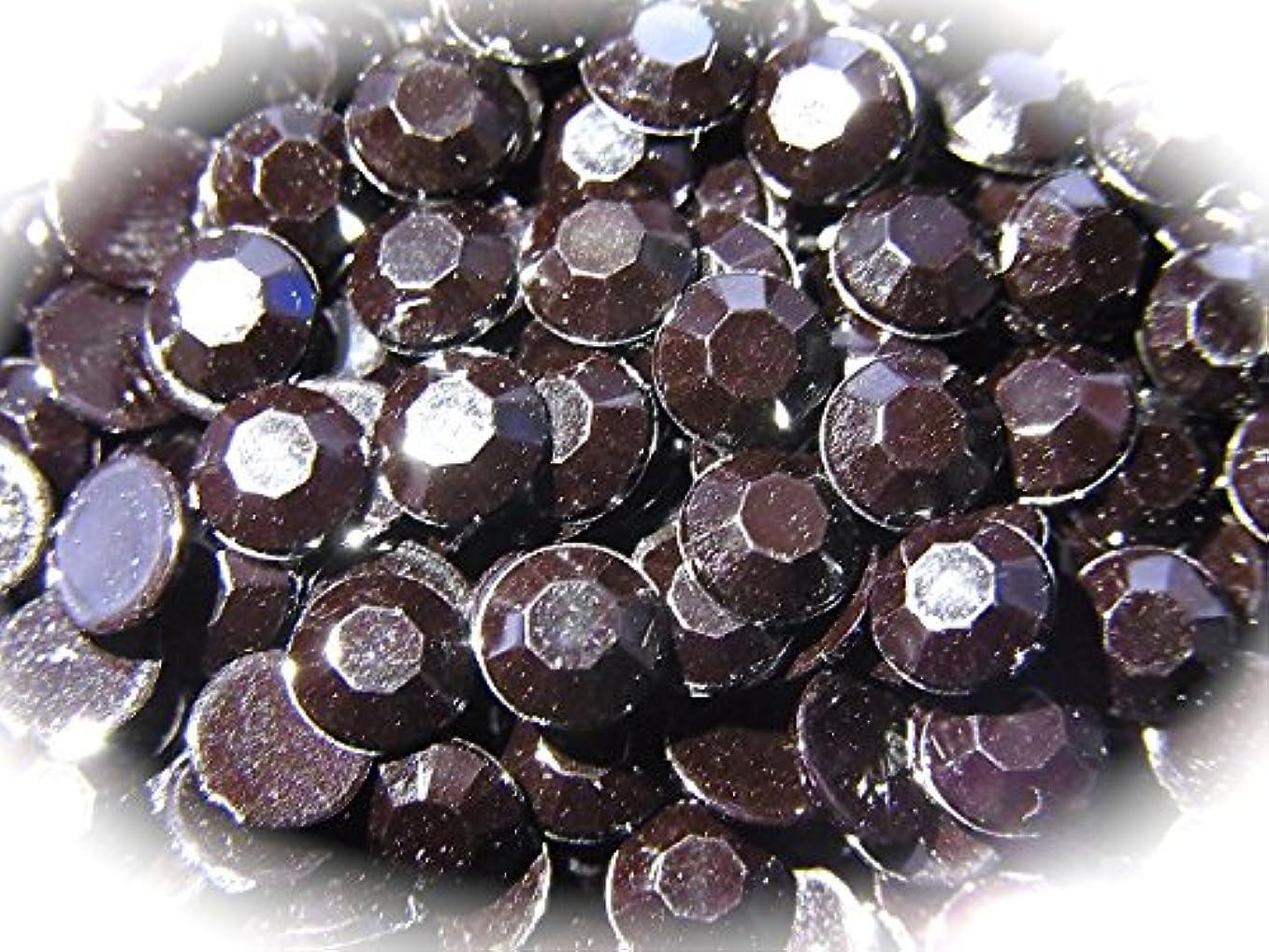 証拠アラーム褐色【jewel】ls1 最高品質 ラインストーン 1.5mm?5mm グルーデコ (1.5mm(300粒), ブラック)