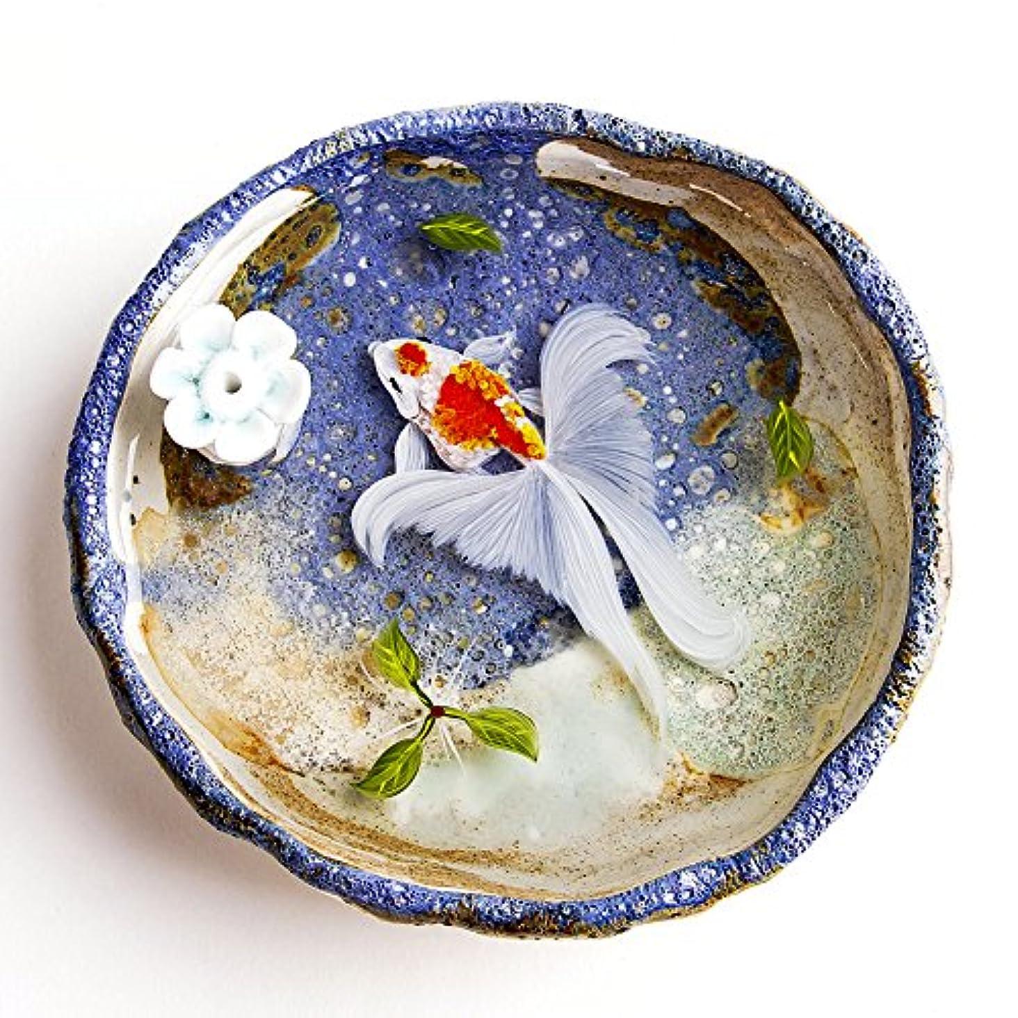 菊フローティングかもしれないお香立て お香たて 香の器 お香を焚いて 香皿,陶磁器