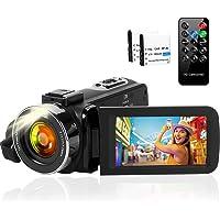 ビデオカメラ 2688X1520 2.7K 1080P(60FPS) 4200万画素数 フィルライト 3インチスクリーン…