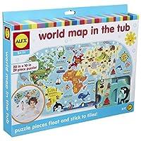ALEX Bath World Map in the Tub [並行輸入品]